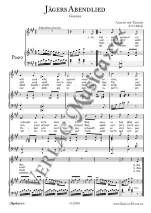 Jägers Abendlied - Goethe - Vagedes